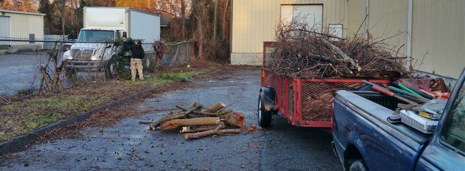 Commercial property in Evans debris removal services.